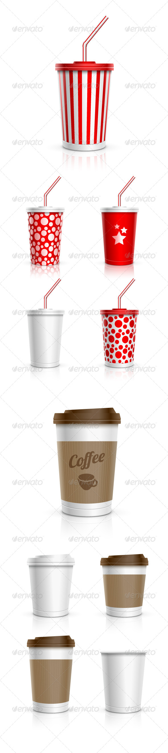 GraphicRiver Disposable Beverage Cup Collection 7846919