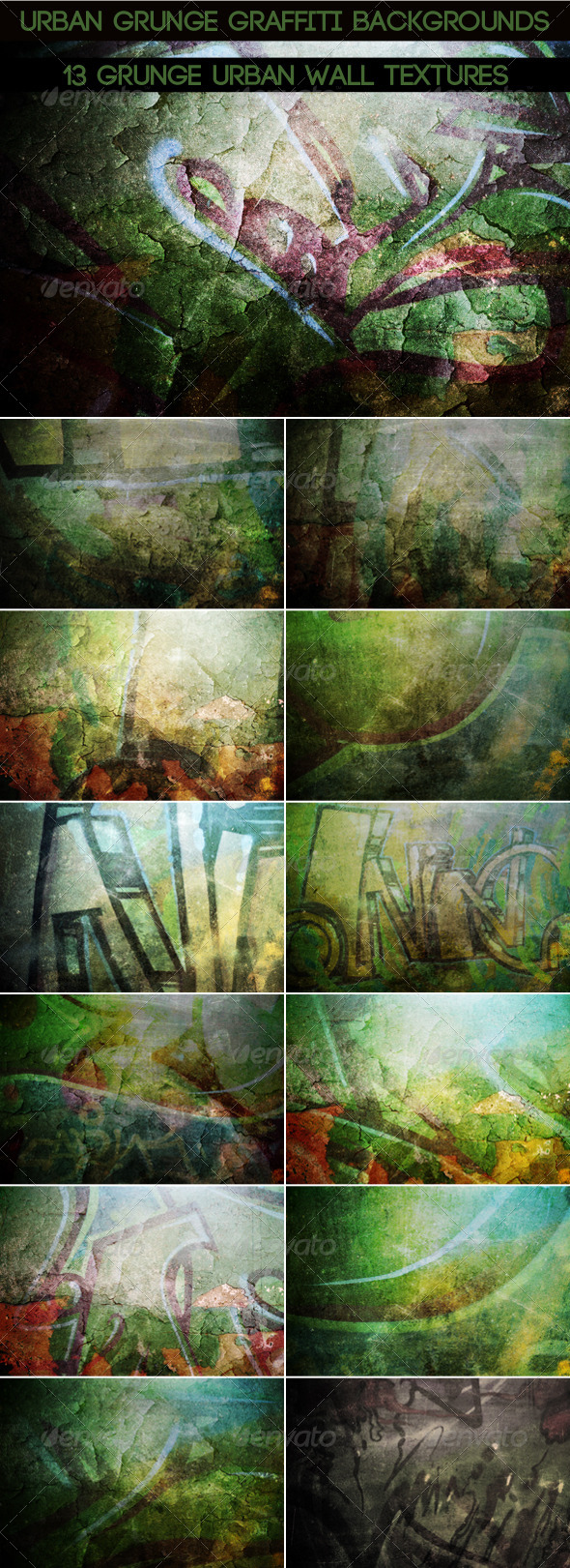 GraphicRiver Urban Graffiti Backgrounds v4 7846961