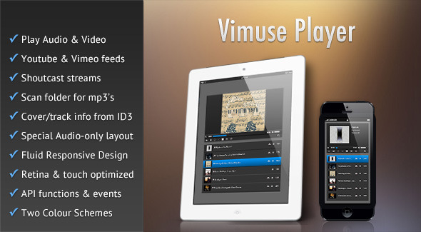 CodeCanyon Vimuse HTML5 Media Player 7847349