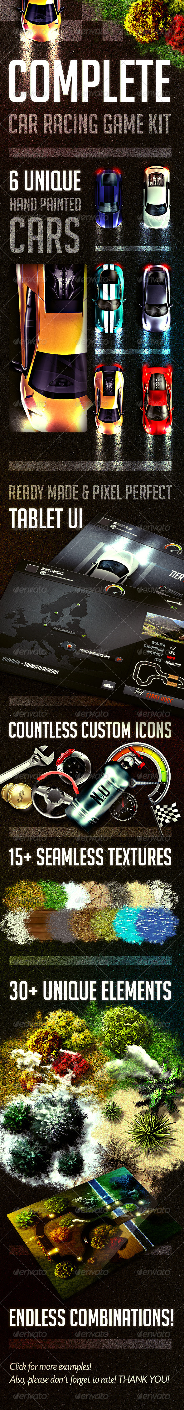 GraphicRiver Complete Car Racing Game Kit 7847502