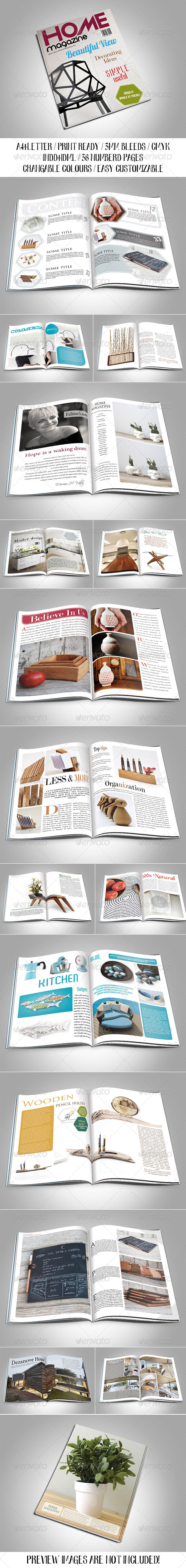 GraphicRiver Home Magazine Template 7847505