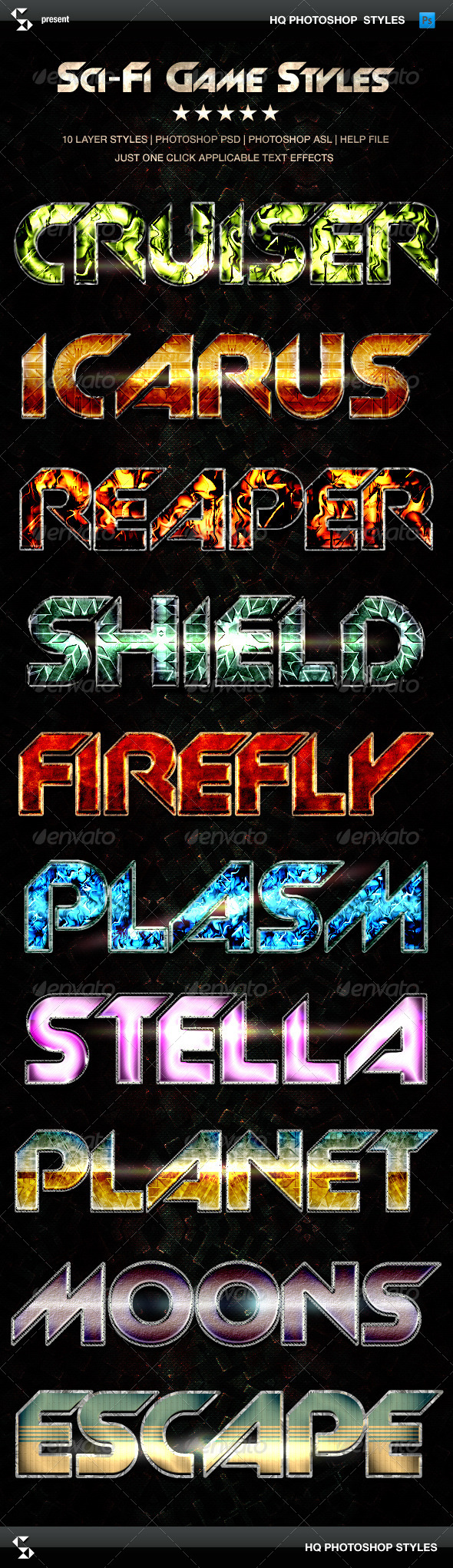 GraphicRiver Sci-fi Game Styles Space Trip Text Effects 7847565