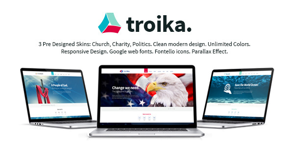 Troika | Multipurpose WordPress Theme