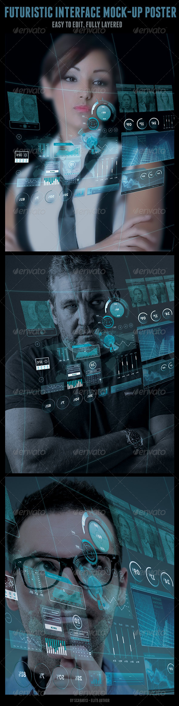 GraphicRiver Large Futuristic Interface Mock-Up 7848002