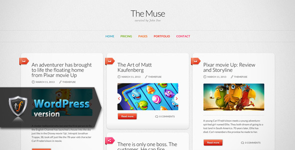 ThemeForest The Muse Inspiration WordPress Theme 7743080