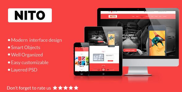 Nito - OnePage Portfolio PSD Template
