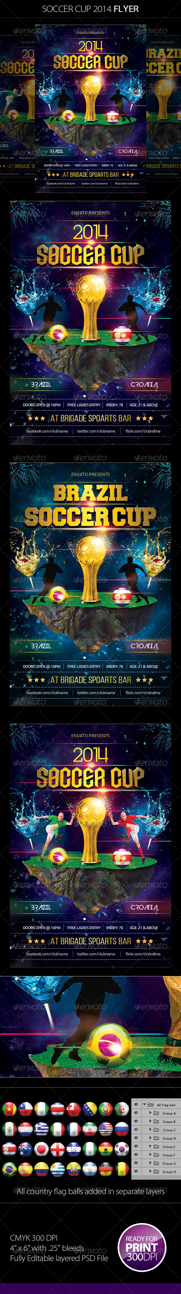 GraphicRiver Soccer Cup 2014 Flyer 7820415