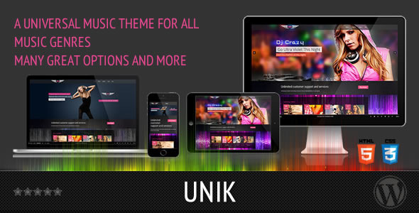 UNIK - Universal Music Theme - Music and Bands Entertainment