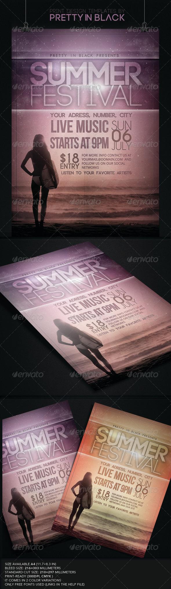 GraphicRiver Summer Festival Flyer 7848567