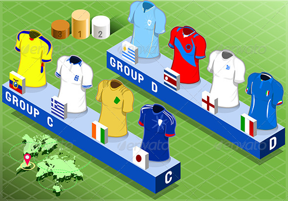 GraphicRiver Isometric Nations Groups for Soccer Cup 7848717