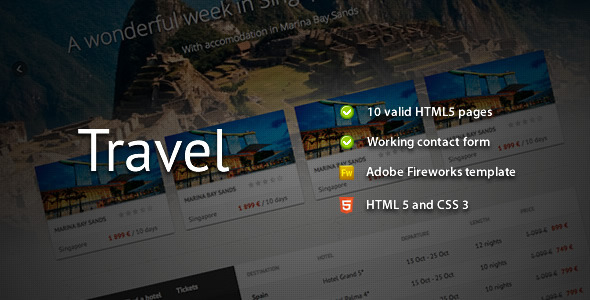 ThemeForest Travel Premium HTML Template 799525