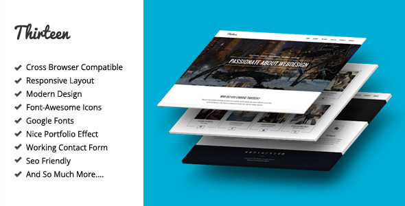 Thirteen - Creative Onepage Site Template - Screenshot 1