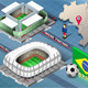 Isometric Stadiums of Cuiaba and Fortaleza - GraphicRiver Item for Sale