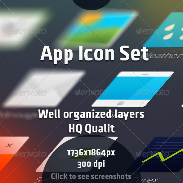 GraphicRiver App Icon Set 7848965