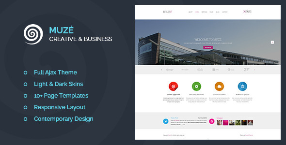 ThemeForest Muze Creative & Business Portfolio 7799558