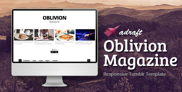 ThemeForest Oblivion Magazine Responsive Tumblr Template 7849038