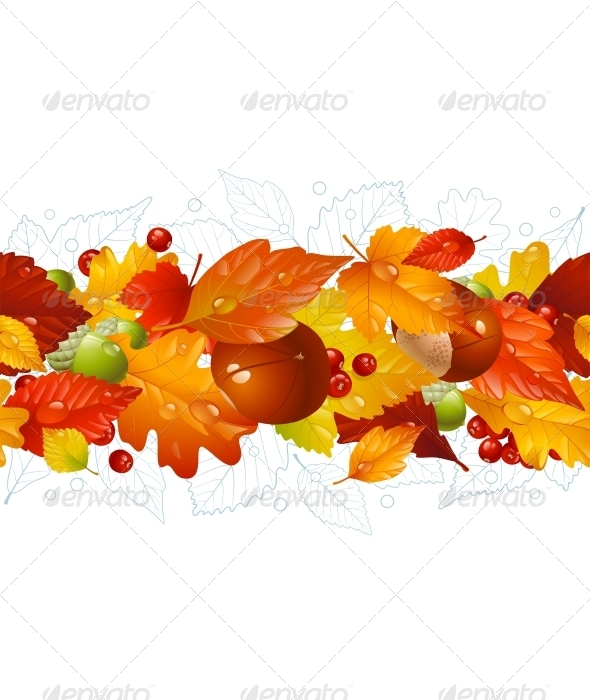 Autumnal seamless horizontal background - Nature Conceptual