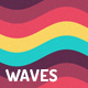 Flat Colors Waves Backgrounds - GraphicRiver Item for Sale