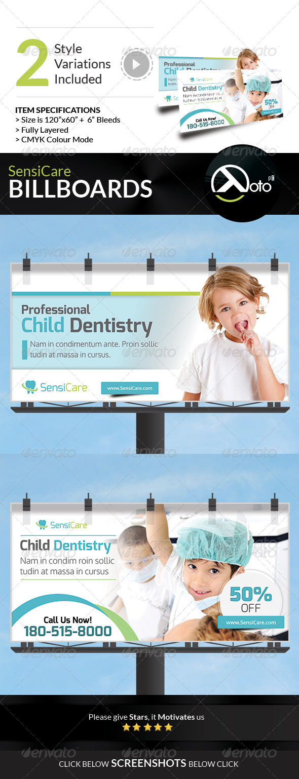GraphicRiver SensiCare Medical Dental Health Billboard 7849141