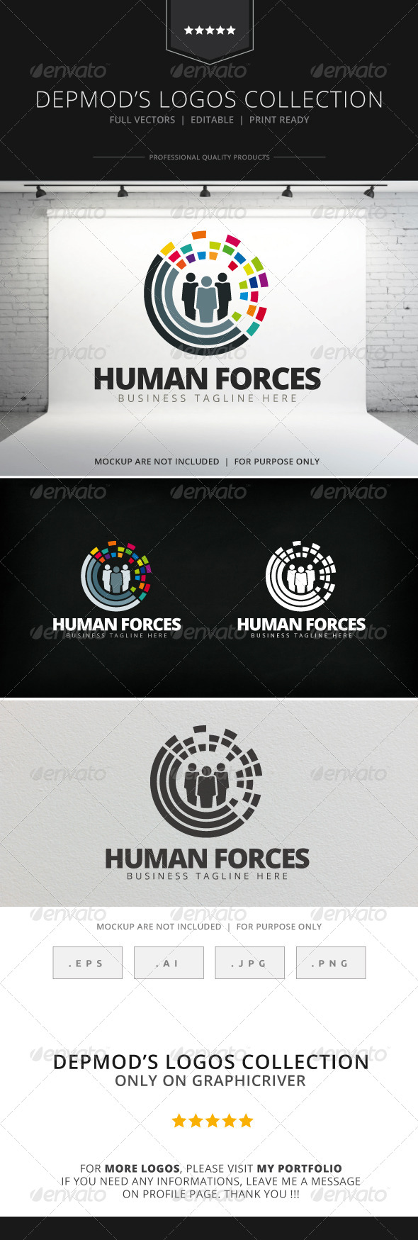 GraphicRiver Human Forces Logo 7849165