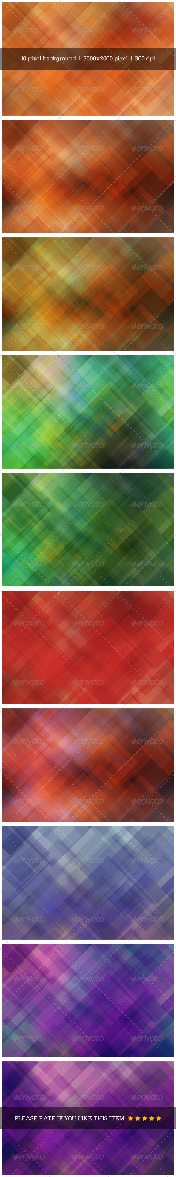 GraphicRiver Abstract Pixel Background 7849200