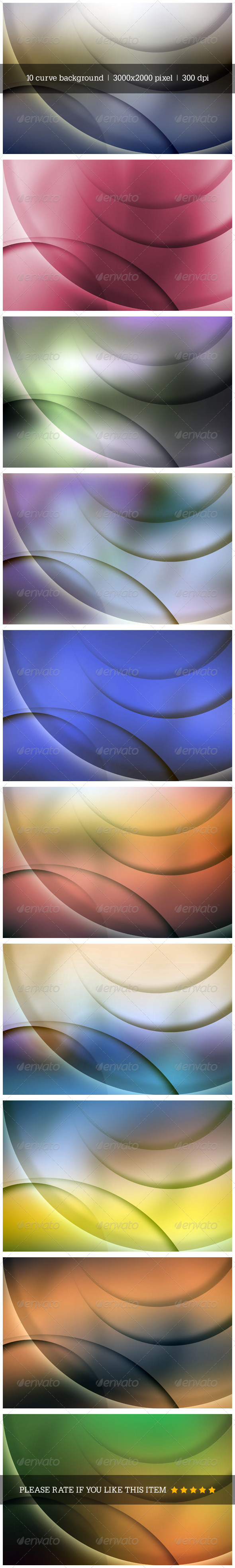 GraphicRiver Abstract Curve Background 7849317
