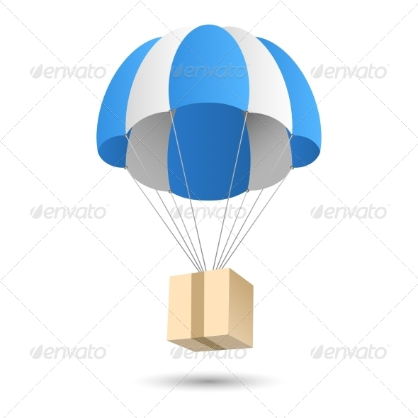 GraphicRiver Parachute Gift Delivery 7849326