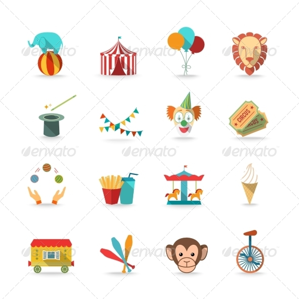 GraphicRiver Circus Icons Set 7849337