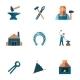Blacksmith Icon Set - GraphicRiver Item for Sale