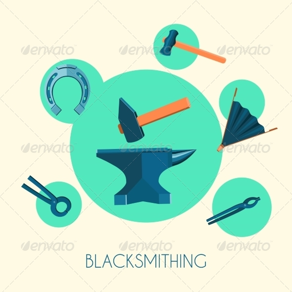 GraphicRiver Blacksmith Symbols Poster 7849345