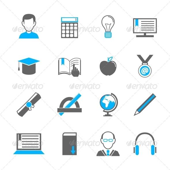 GraphicRiver E-Learning Icon Set 7849400