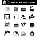 Real Estate Icons Black - GraphicRiver Item for Sale