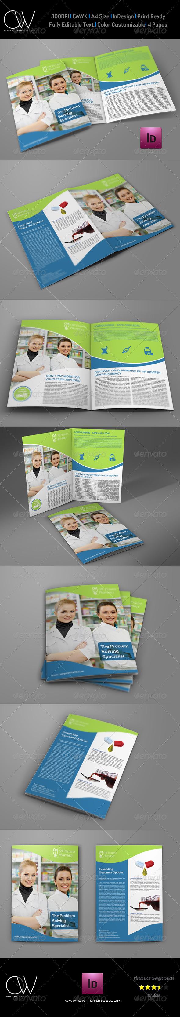 GraphicRiver Pharmacy Brochure Bi-Fold Template 7849529