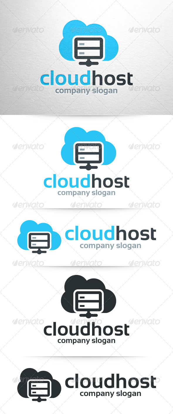 GraphicRiver Cloud Host Logo Template 7849558