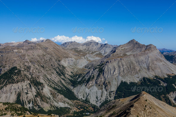 Landscape in Alps - Stock Photo - Images