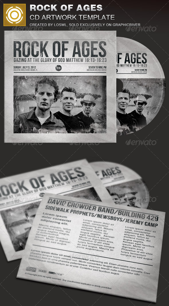 GraphicRiver Rock of Ages CD Artwork Template 7849913