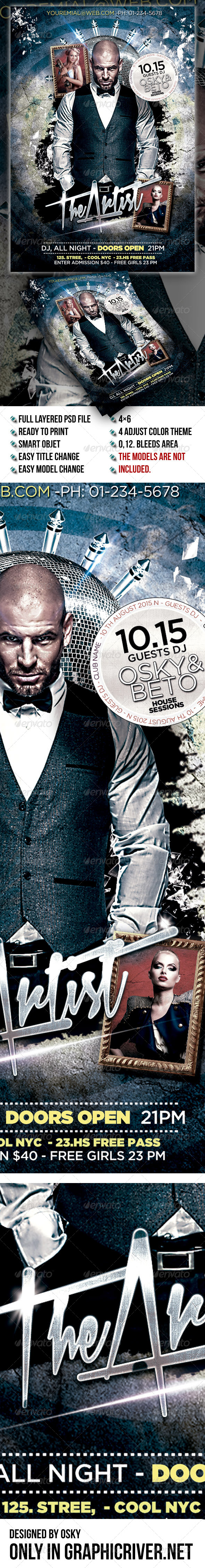GraphicRiver Dj Event Flyer Template 7849951
