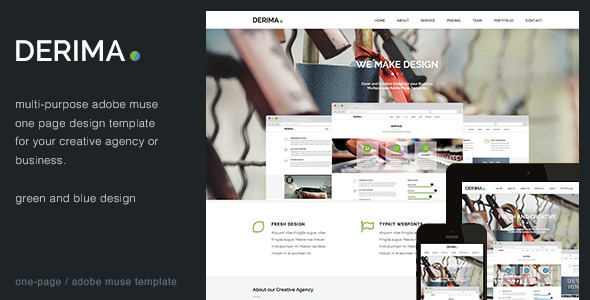 ThemeForest Derima Creative One Page Multi-Purpose Template 7790164