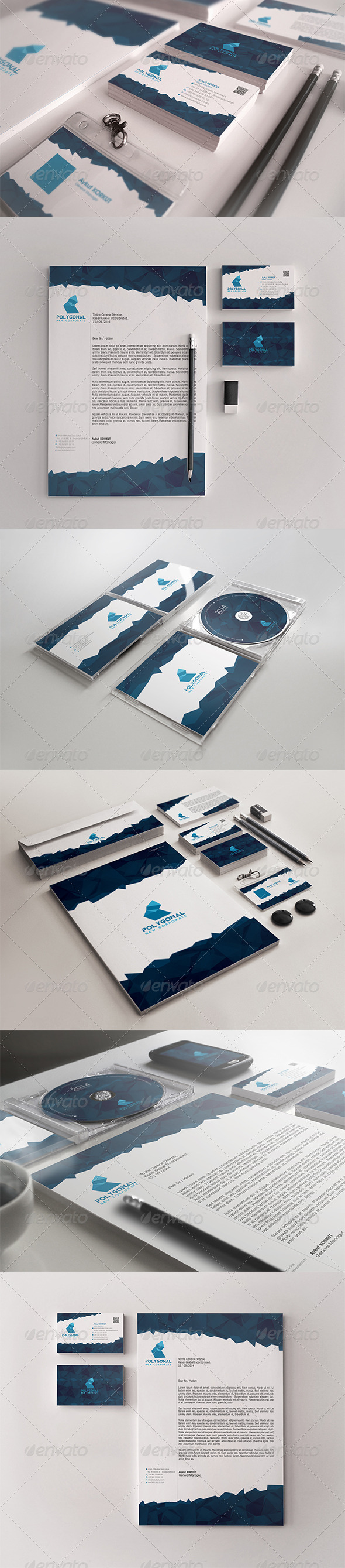 Polygonal Corporate Identity Package