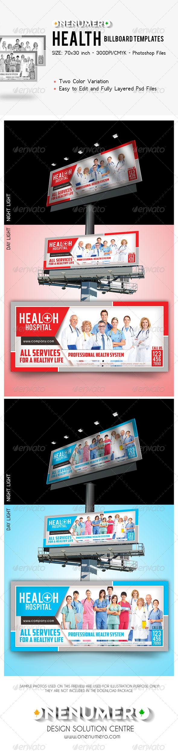 GraphicRiver Health Billboard Templates 7850761