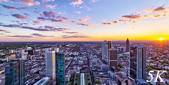 Modern City Skyline Day to Night