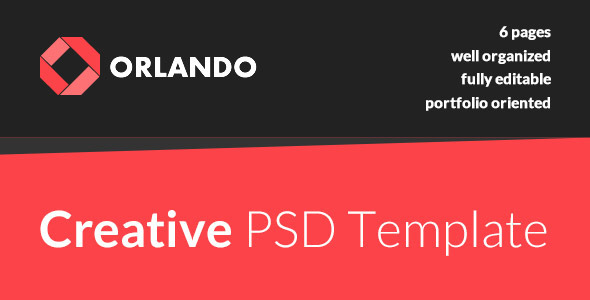 ThemeForest Orlando Creative PSD Template 7836162