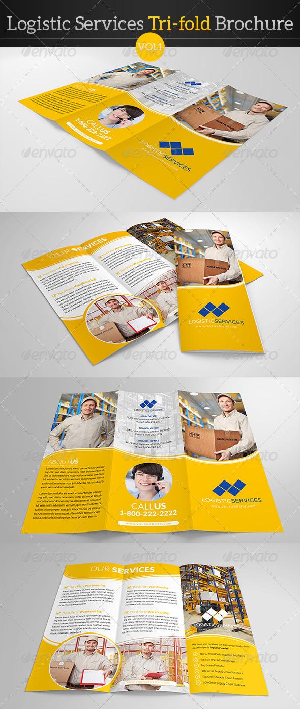 GraphicRiver Logistic Services Tri-Fold Brochure 7829714
