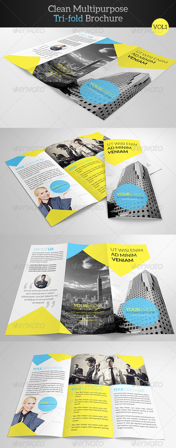 GraphicRiver Clean Multipurpose Trifold Brochure 7837185