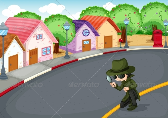 GraphicRiver A detective on the road 7851455