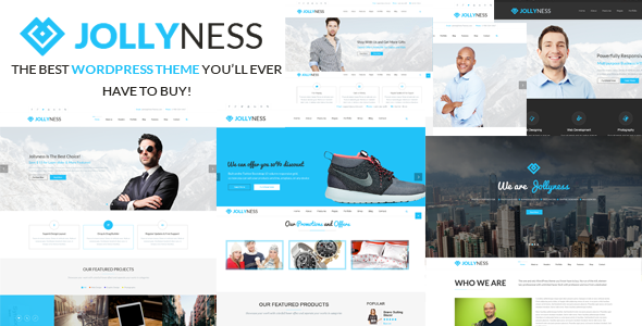 Jollyness Multi Purpose, Corporate WordPress Theme