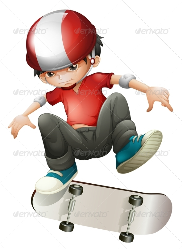 GraphicRiver Boy and his Skateboard 7851508