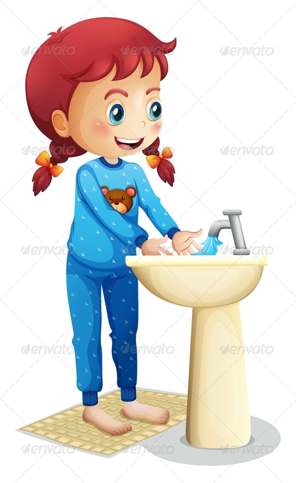 GraphicRiver Girl washing her face 7851513