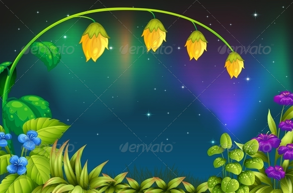 GraphicRiver Garden at Night 7851547