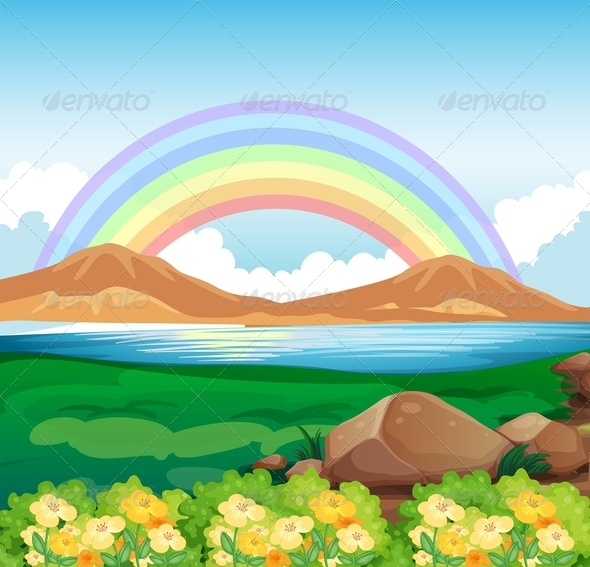 GraphicRiver Rainbow and beautiful nature 7851558
